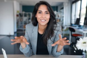 Confident businesswoman with Invisalign in Marlborough